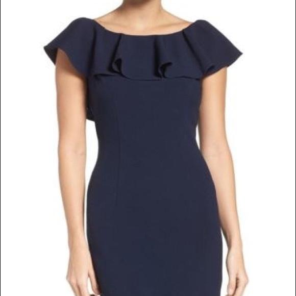 65915d9cca1 Eliza J Dresses   Skirts - Eliza J flutter sleeve sheath midi dress size 12